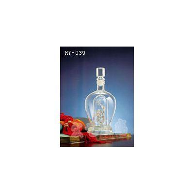 江西手工艺酒瓶-宏艺玻璃制品公司-接受定制手工艺酒瓶