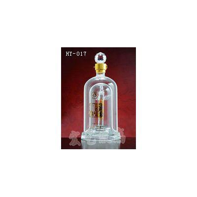 上海玻璃工艺酒瓶/宏艺玻璃制品公司/承接订做船瓶
