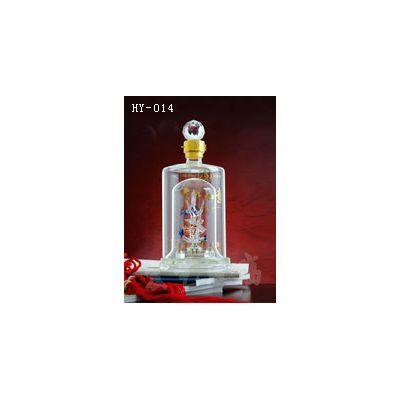 重庆工艺玻璃酒瓶~宏艺玻璃公司