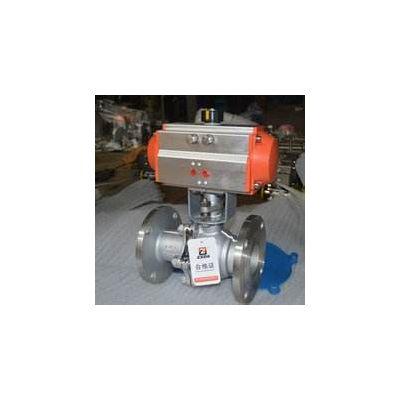 铸钢气动球阀 Q641F气动球阀